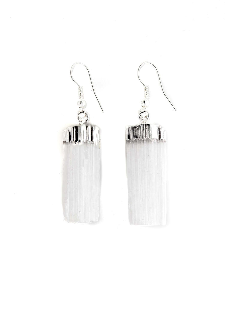 Selenite Blade Earrings