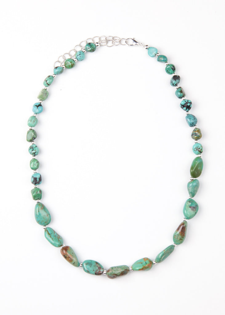 Image of genuine turquoise nugget necklace by SoulMakes