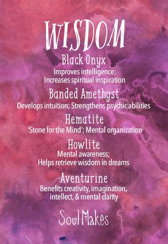 Wisdom and insight crystals meaning card by SoulMakes