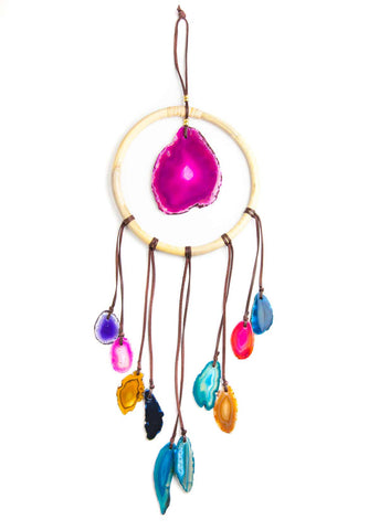 Multi color agate crystal wall hanging by SoulMakes 3