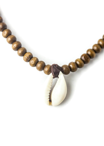 Cowrie shell choker necklace by SoulMakes