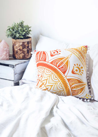 Tangerine Medallion Cushion Cover