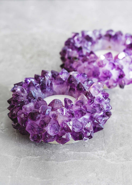 Amethyst Lotus Candle Holder By Soulmakes