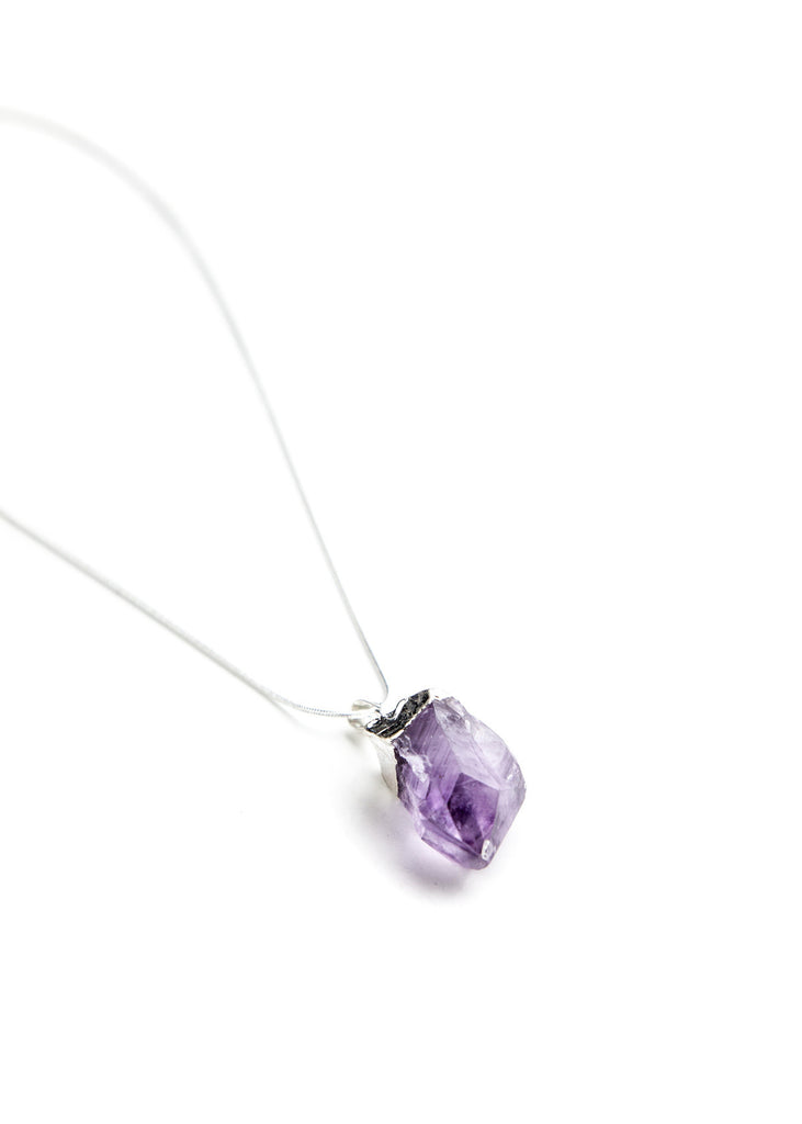 Adina Amethyst Crystal Pendant Necklace by SoulMakes 1