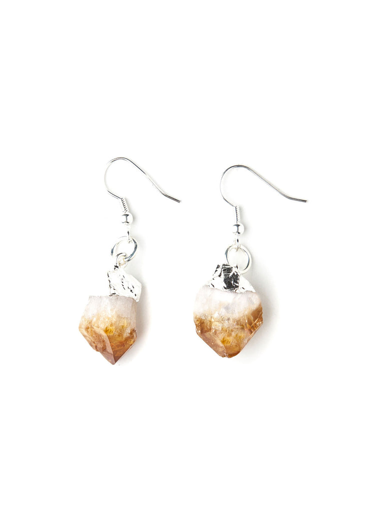 Sierra Citrine Crystal Earrings Set by SoulMakes