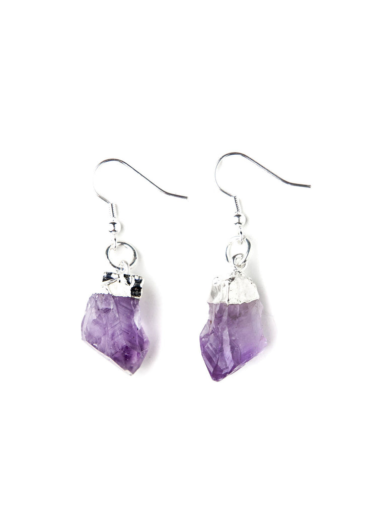 Adina Amethyst Crystal Earrings Set by SoulMakes