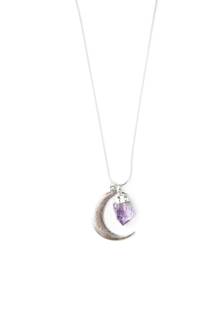 Adina Moonrise Amethyst Charm Necklace by SoulMakes