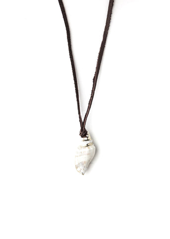 Cali Conch Leather Necklace