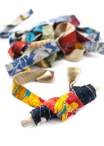 Kantha strips ribbon gift wrapping by the yard by SoulMakes