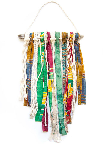 Kantha Strips and Cotton Rope Wall Hanging by SoulMakes 2