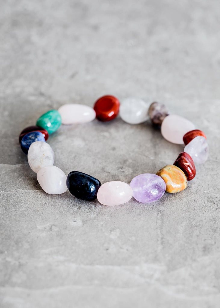 Tumbled Mixed Gemstone Bracelet