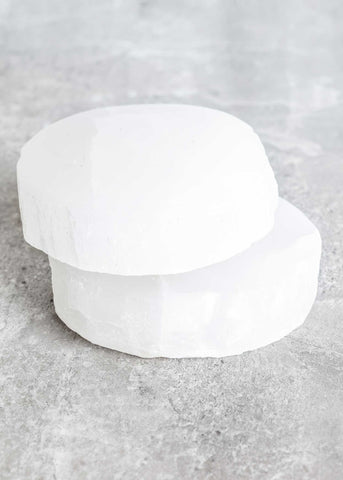 Selenite Coaster
