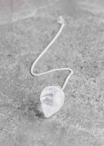 Clear Quartz Teardrop Pendulum