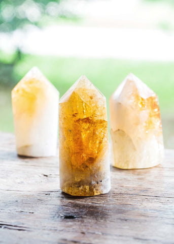 Polished Citrine Point