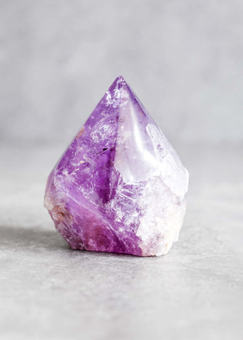 Top Polished Amethyst Point