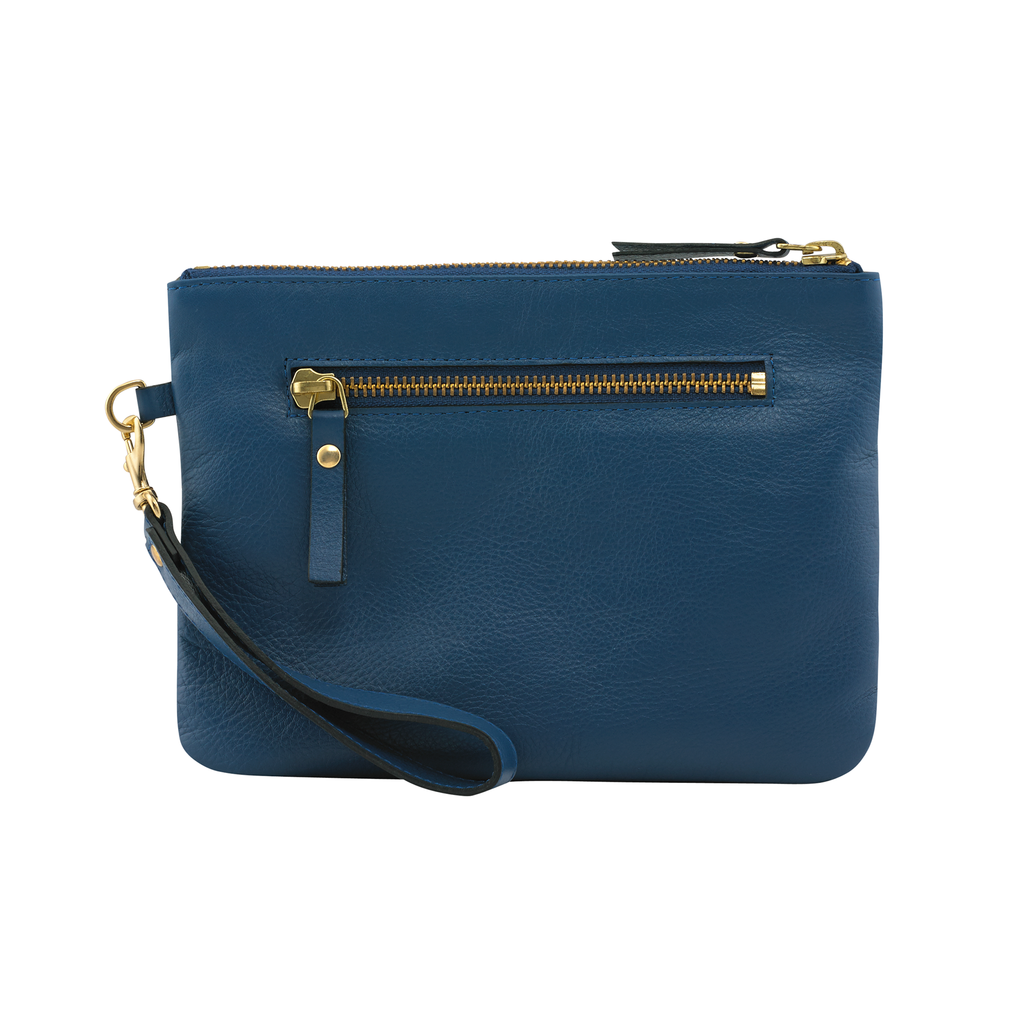 Sarah Hollier Blue Mini Pouch