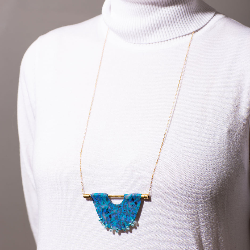 Abalone-Inspired Plate Necklace