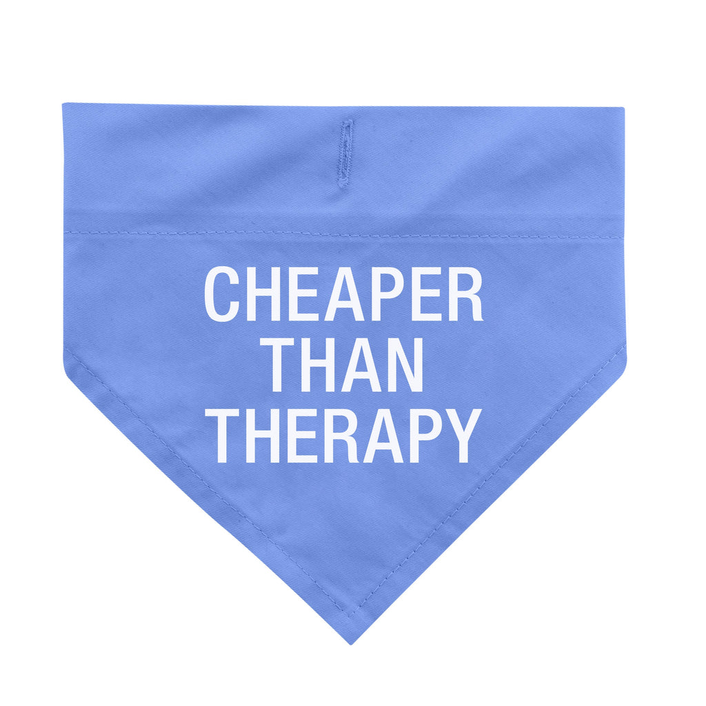 Cheaper Than Therapy Dog Bandana