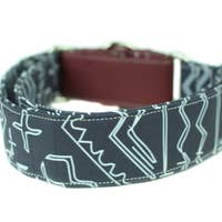 Navy Tribal Martingale Dog Collar