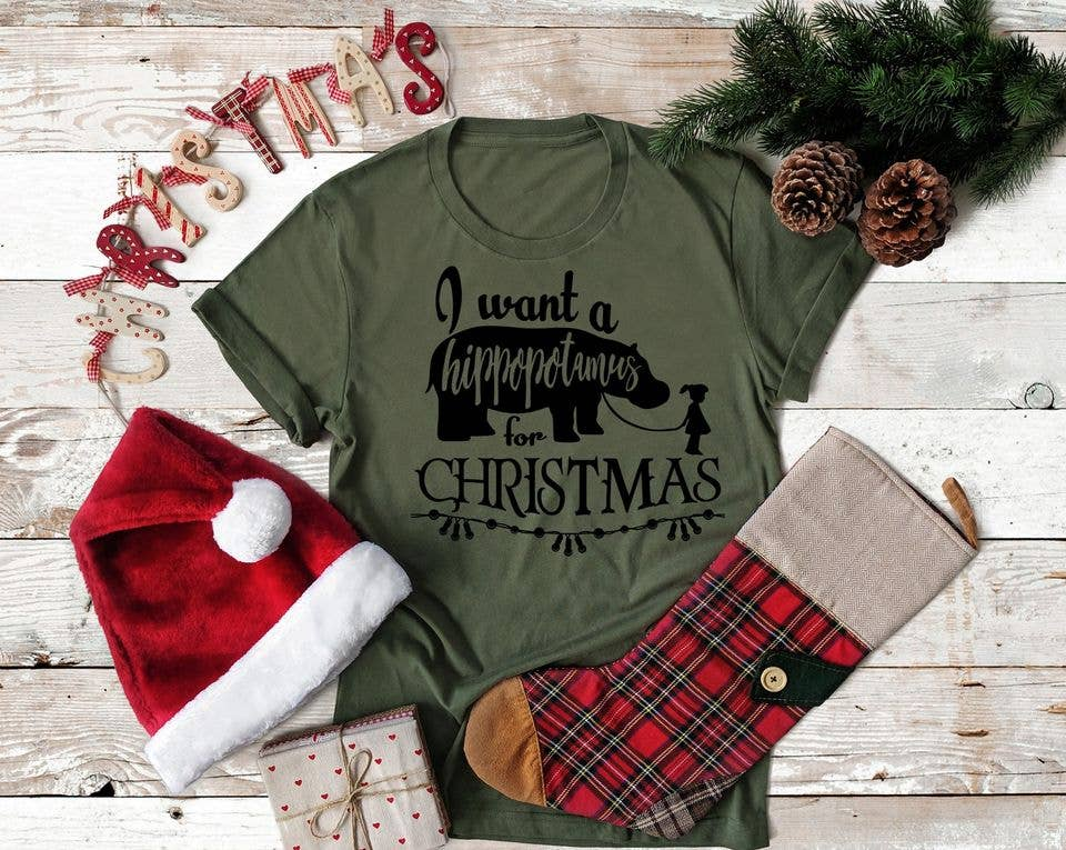 Hippo For Christmas Tee