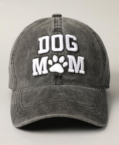 Dog Mom Vintage Wash Hat