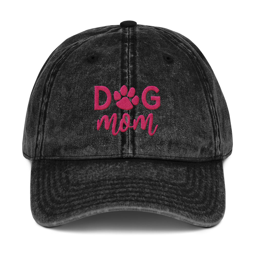 Dog Mom Vintage Cap