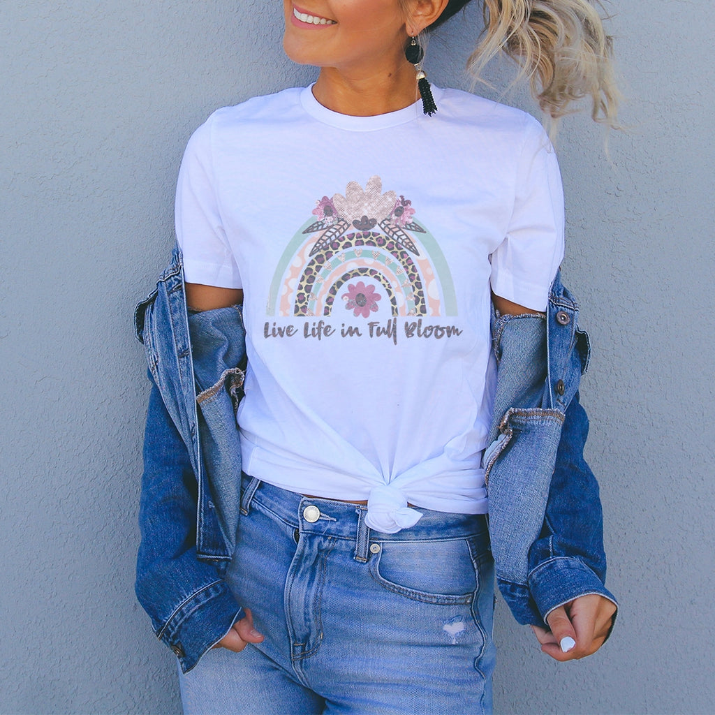 Live Life In Full Bloom Tee