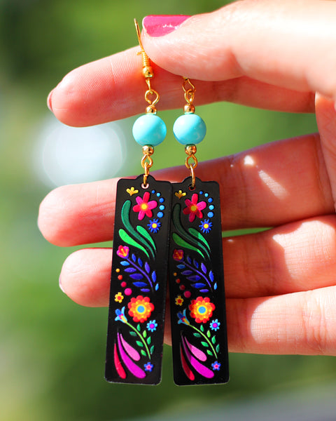 Colores Bead Acrylic Earrings
