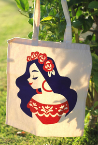 La Rosa, Reusable Screen-Printed Tote Bag