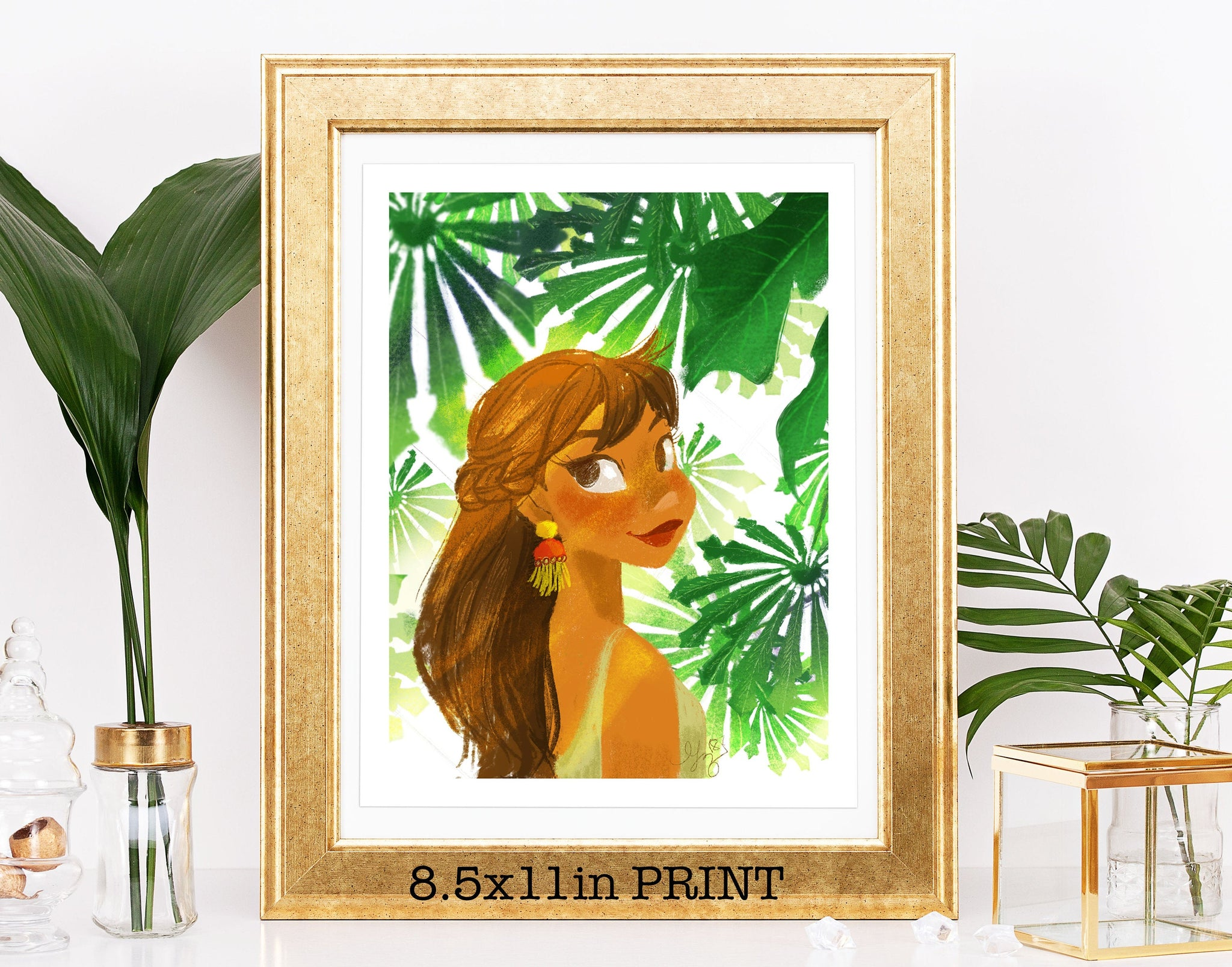 8.5x11in Tropical Plant Gal Print