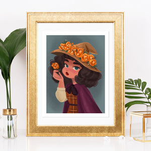8.5x11in Fall Witch