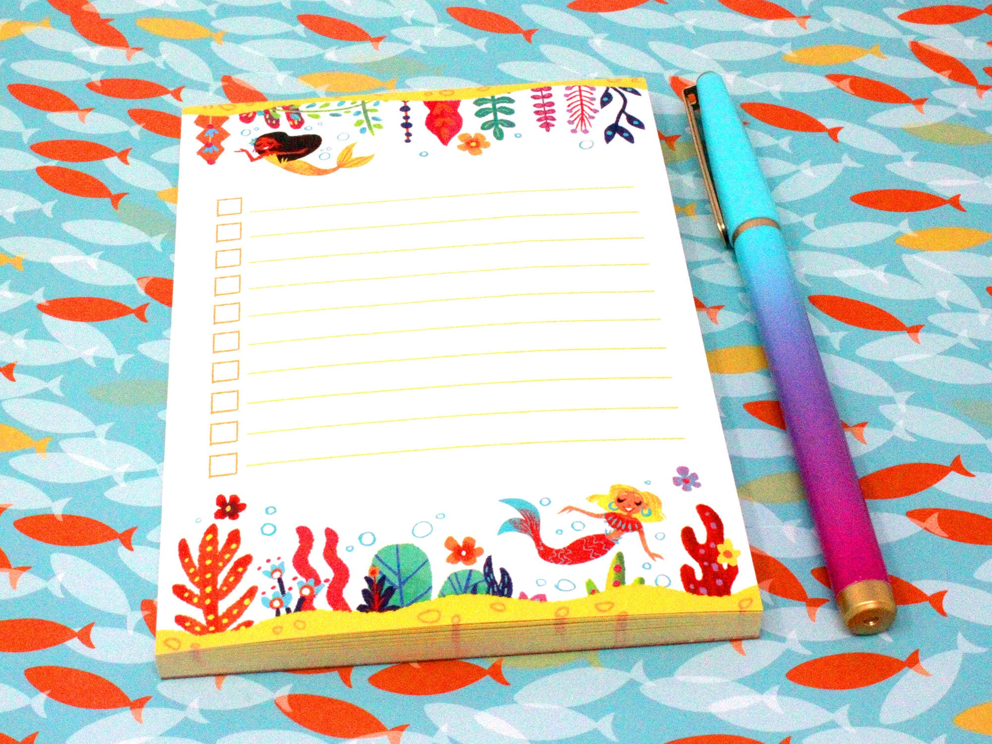 4 x 5.5 mermaid forest notepad