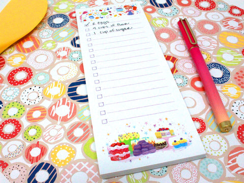 3x8 cupcakes and cakes notepad
