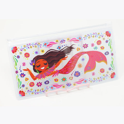 7in x 3.5in Clear Chula Mermaid Pouch