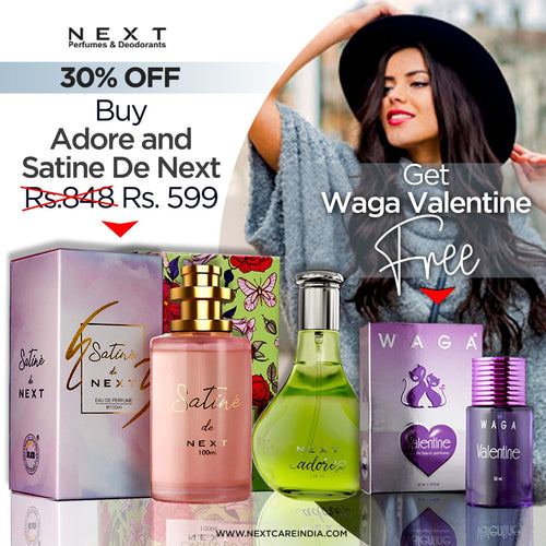 2+1 Combo (Adore 100 ml, Satin de Next 100 mL and Valentine 35 ml)