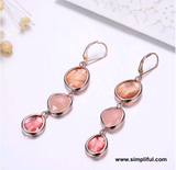 Crystal stone dangle Earring - Simpliful