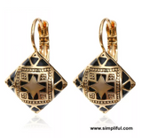 Diamond antique drop Earring - Simpliful