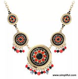 Antique Resin bead statement Fashion Necklace - Simpliful