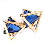 Double triangle linked stud Earring - Simpliful