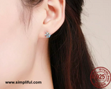 Sterling silver tiny Unicorn stud Earring