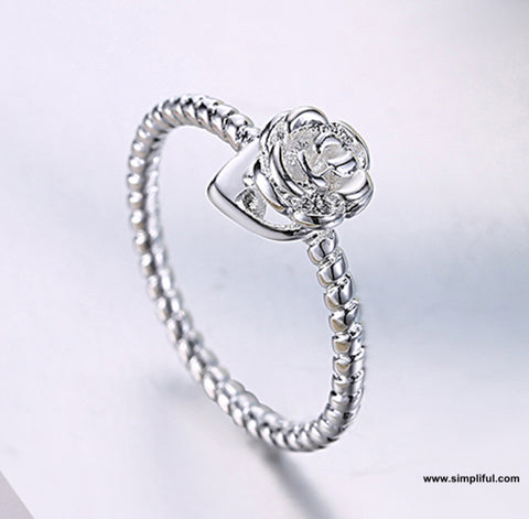 Rose flower Finger ring
