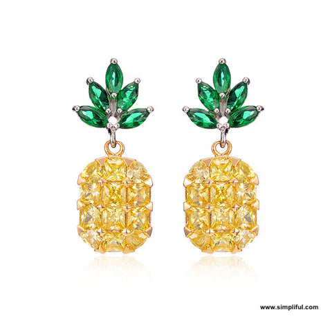 Pineapple design cz Earring