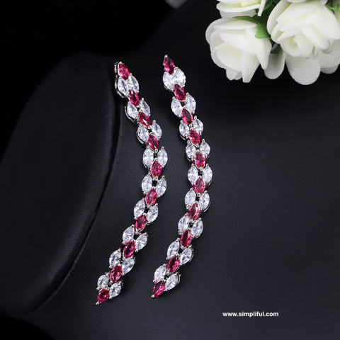 Unique CZ long Earring