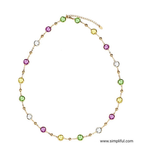 Swarovski like crystal Fashion Necklace