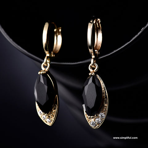 Water drop CZ drop Earring