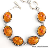 Bold Resin bead antique Bracelet - Simpliful