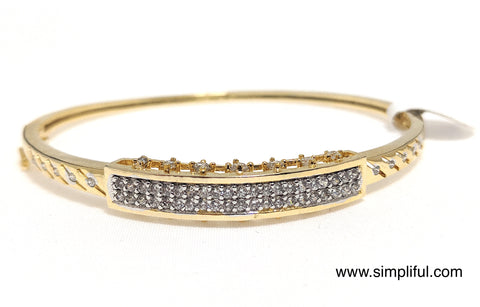 Rectangle White CZ stone Bangle Bracelet - Simpliful