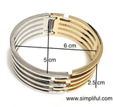 Dual Color Cuff Bangle Bracelet - Simpliful