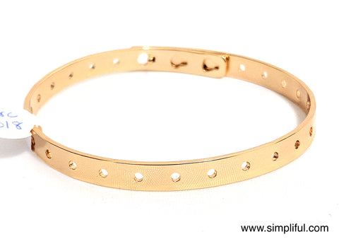 Gold plated dotted Bracelet - Simpliful