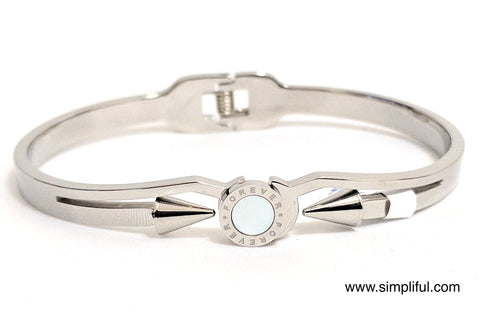 Platinum plated Arrow bangle Bracelet - Simpliful